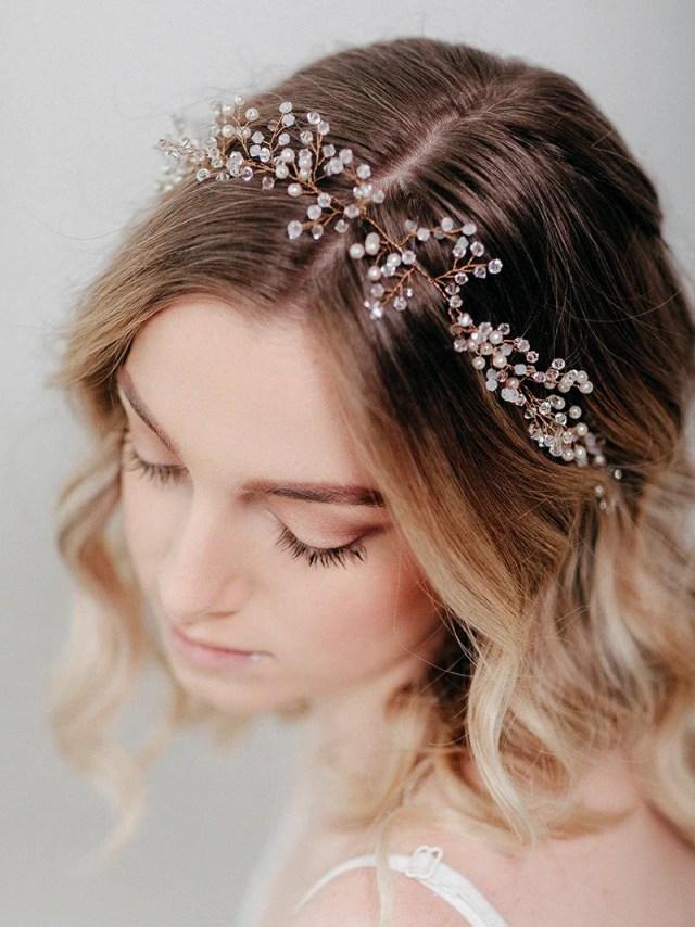 bridal hair piece   wedding accessory   marielle hair wreath