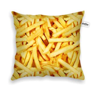 french fries invasion throw pillow case shelfies