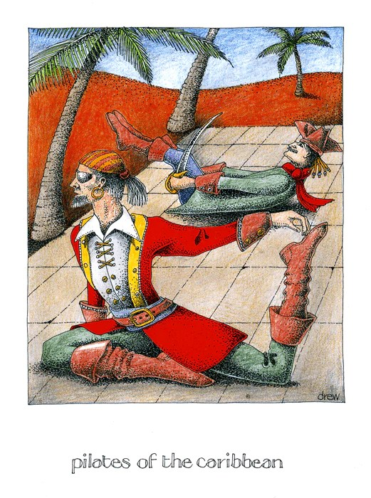 Funny Greetings Card Pilates Of The Caribbean Comedy