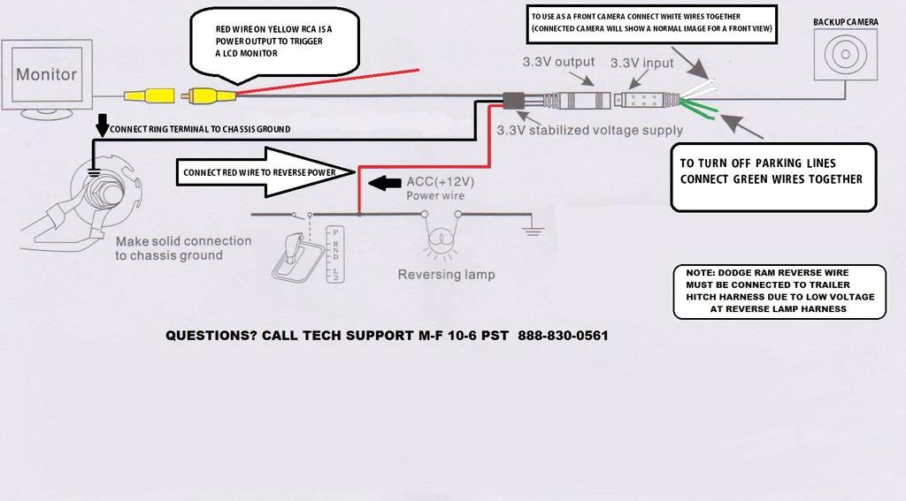 Camera Wire Diagram | Tailgate Camera