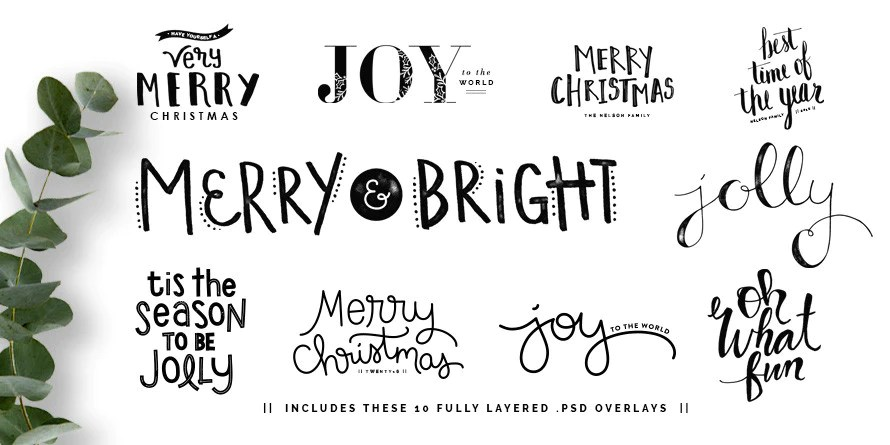 Merry Sentiments Holiday Overlays The Modern Collective
