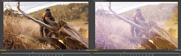 light leak video effects before and after