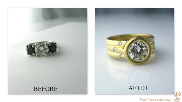 Resetting Three Stone Engagment Ring The Perfect Setting