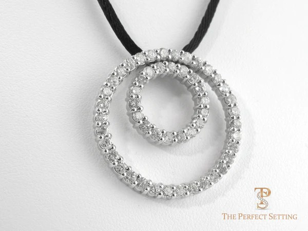 Double Circle Diamond Eternity Necklace The Perfect Setting
