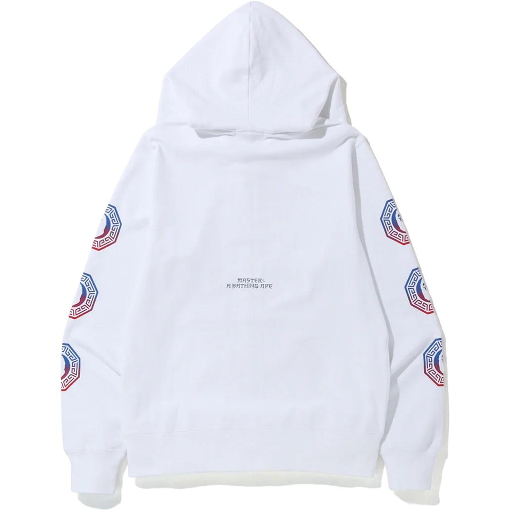 white zip hoodie mens