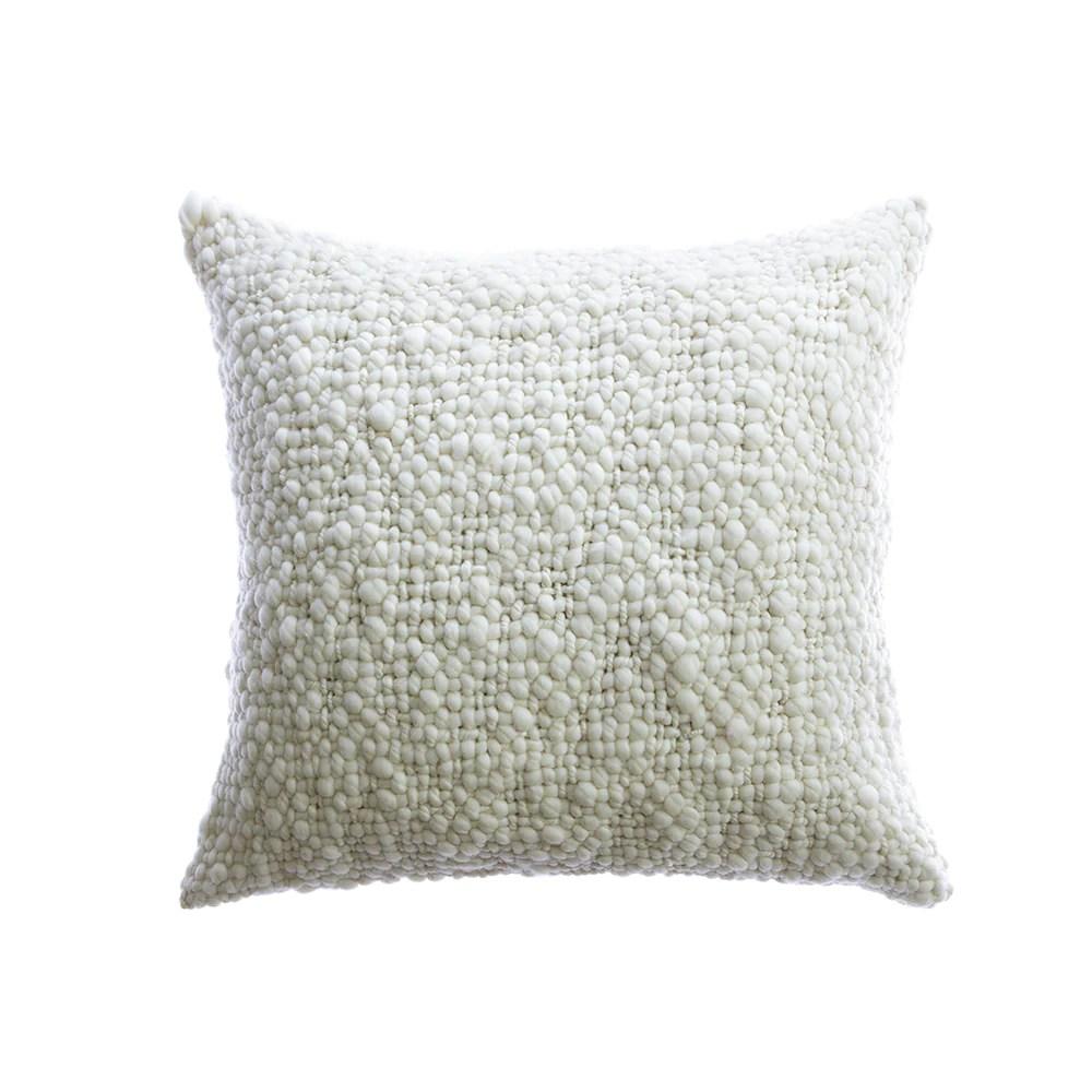 alma chunky wool square pillow