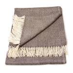 100 Baby Alpaca Geometric Throw Blanket In Brown Cream Qinti The Peruvian Shop