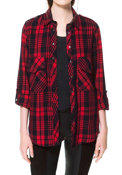 Red Plaid Shirt from Lookbook Store
