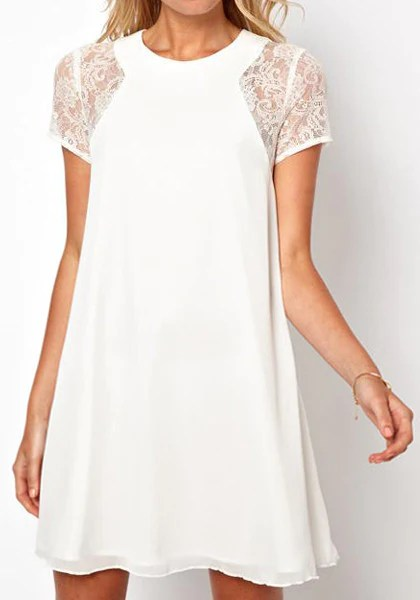 Lace Chiffon Dress from Lookbook Store