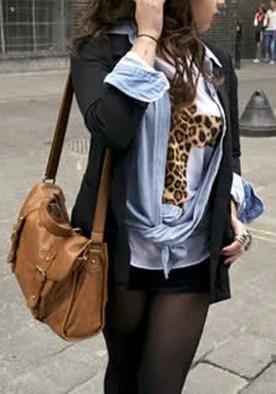 Leopard Cross Tee from Lookbook Store