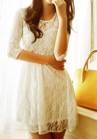 Mesh Heart Lace Dress from Lookbook Store