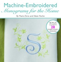 Machine Embroidered Monograms for the Home