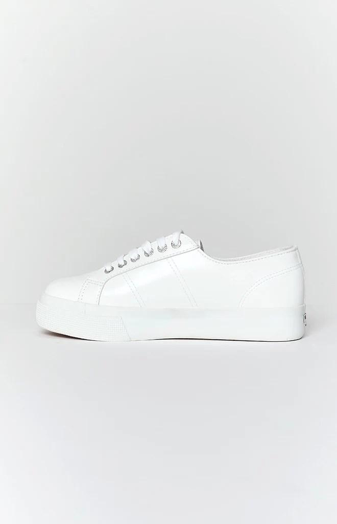 Superga 2730 NAPPA Leather Sneaker White 1