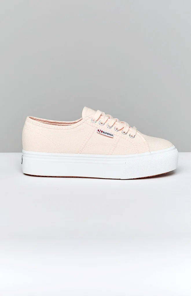 Superga 2790 LINEA Up Down Canvas Sneaker Pink 3