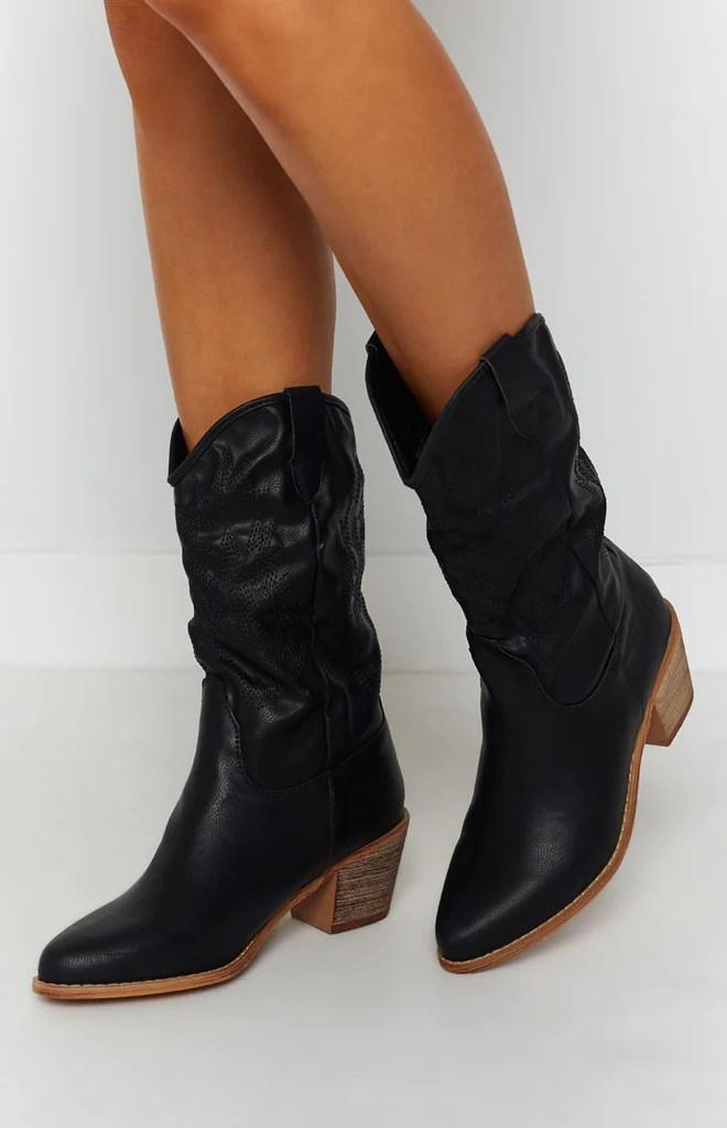 Saint Cowboy Boots Black 5