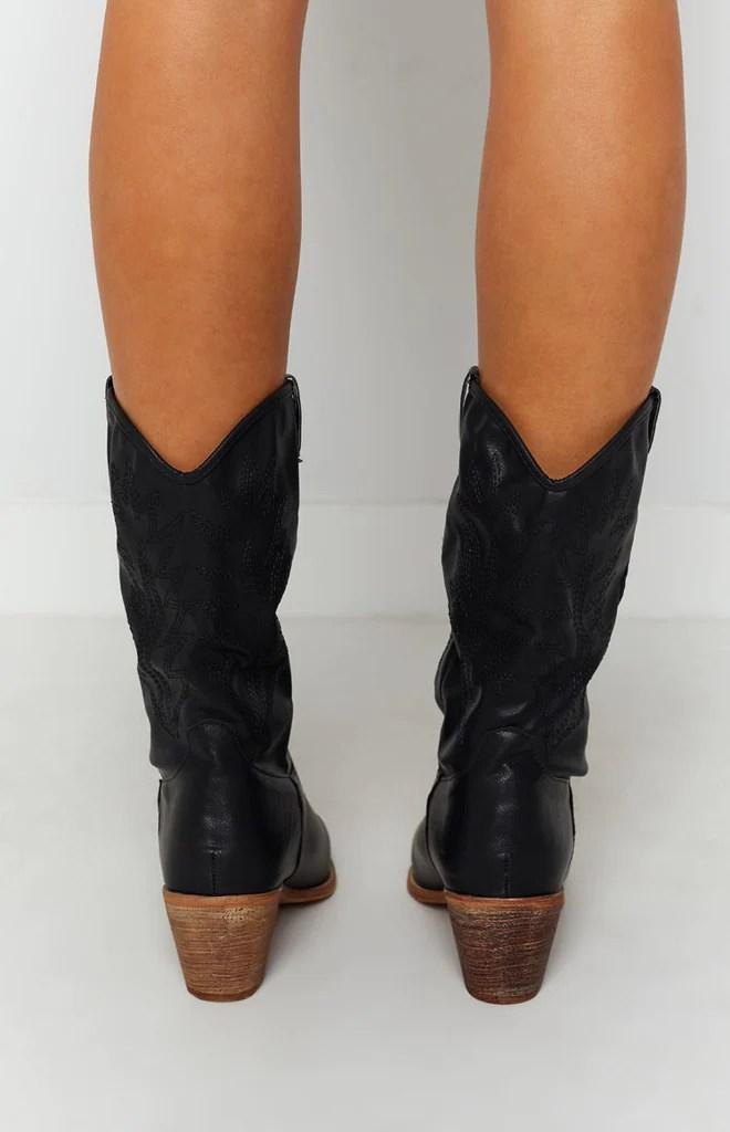 Saint Cowboy Boots Black 6