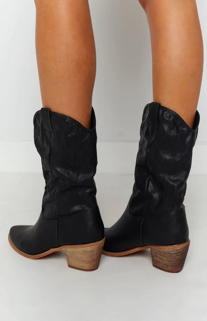 Saint Cowboy Boots Black 7