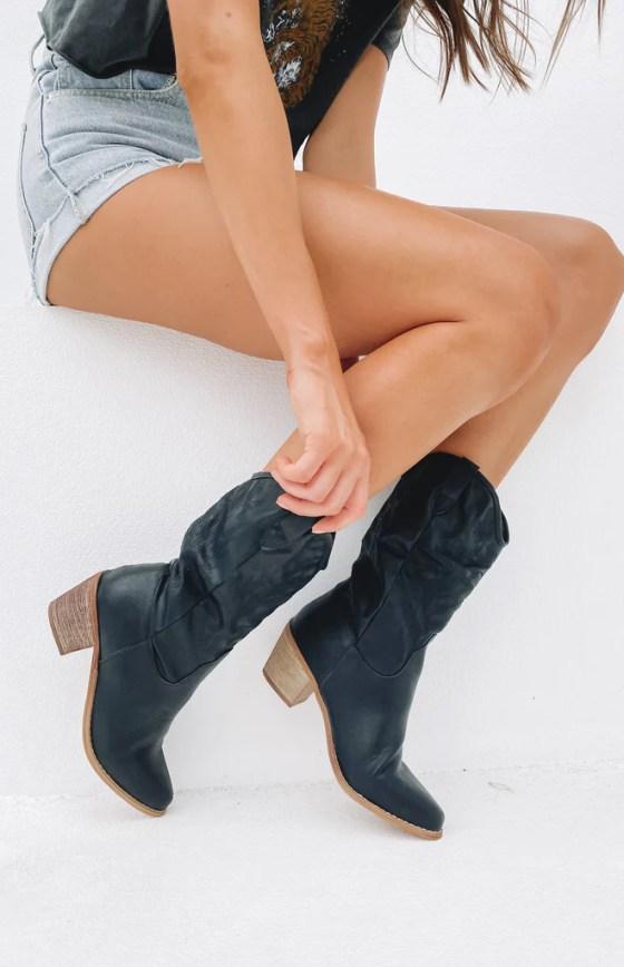 Saint Cowboy Boots Black 10
