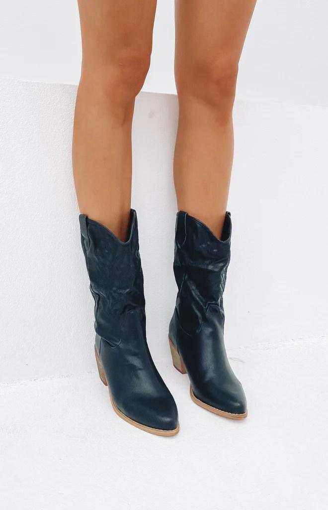 Saint Cowboy Boots Black 1