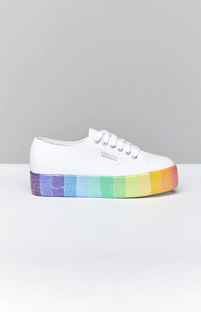 Superga 2790 CotwMulti Glitter Canvas Sneaker Multicolour 6