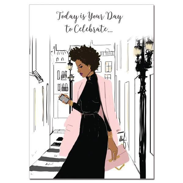 Today Is Your Day To Celebrate African American Birthday Card The Black Art Depot