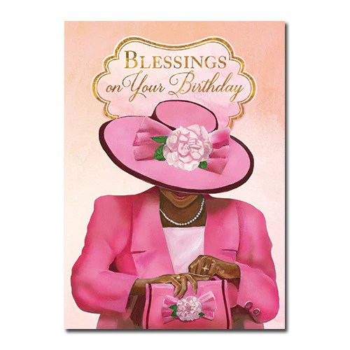 Blessings African American Birthday Card 7x5 Inches High Gloss The Black Art Depot