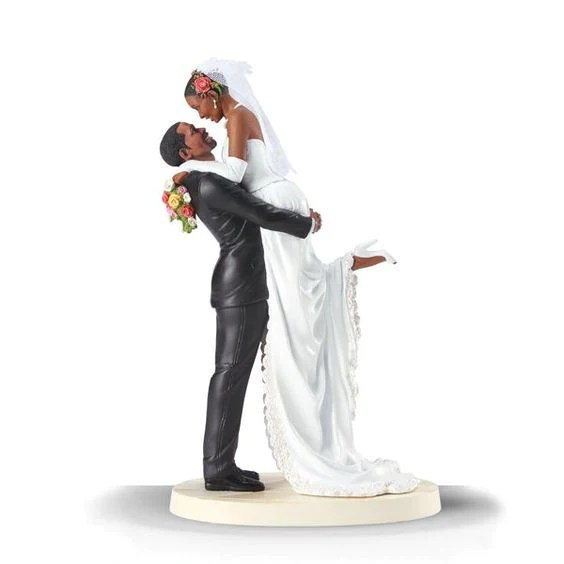 Forever One Cake Topper  African American  by Thomas Blackshear     Forever One  African American Wedding Cake Topper