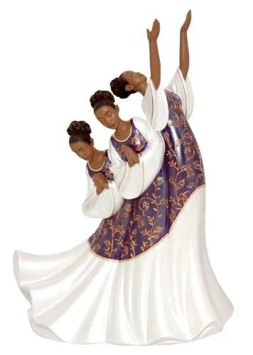 Giving Praise Purple Praise Dancer Figurine The Black