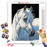 Majestic White Horse Diamond Painting Kit Dazzle Crafter