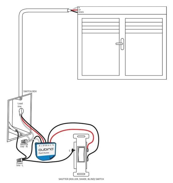 qubino zwave plus flush shutter module zmnhcd3