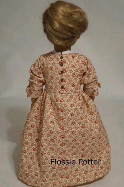 Flossie Potter Betsy Ross Shop Dress Doll Clothes Pattern