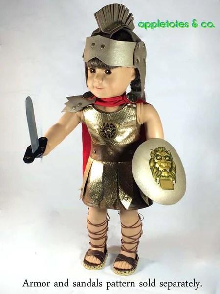 Appletotes Amp Co Roman Gladiator Costume Doll Clothes