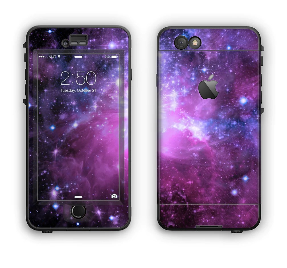 the purple space neon explosion apple iphone 6 plus lifeproof nuud
