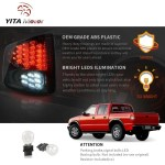 Led Tail Lights For 1994 2003 Chevy S10 2 2l 4 3l 1994 2001 Gmc Sonom Yitamotor