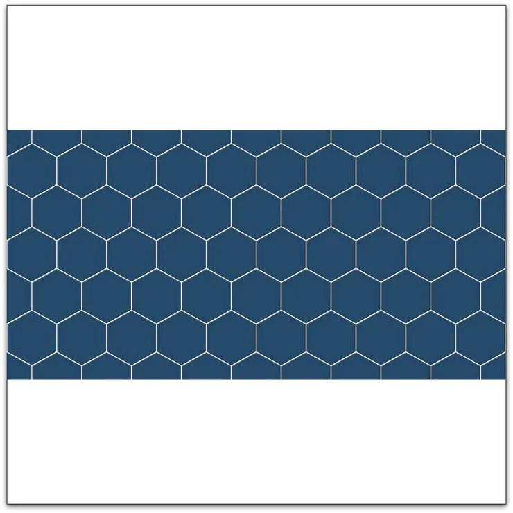 Autocollant Mural Amovible Hexa Bleu Amiral Quadrostyle France