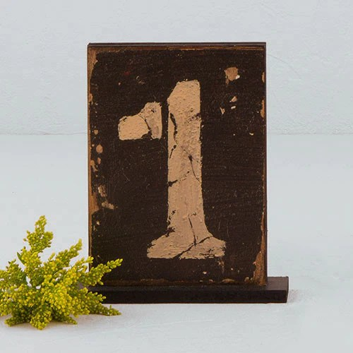 Rustic Self Standing Table Number And Holder Candy Cake