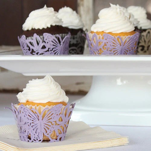 Butterfly Cupcake Wraps Candy Cake Weddings Favors And