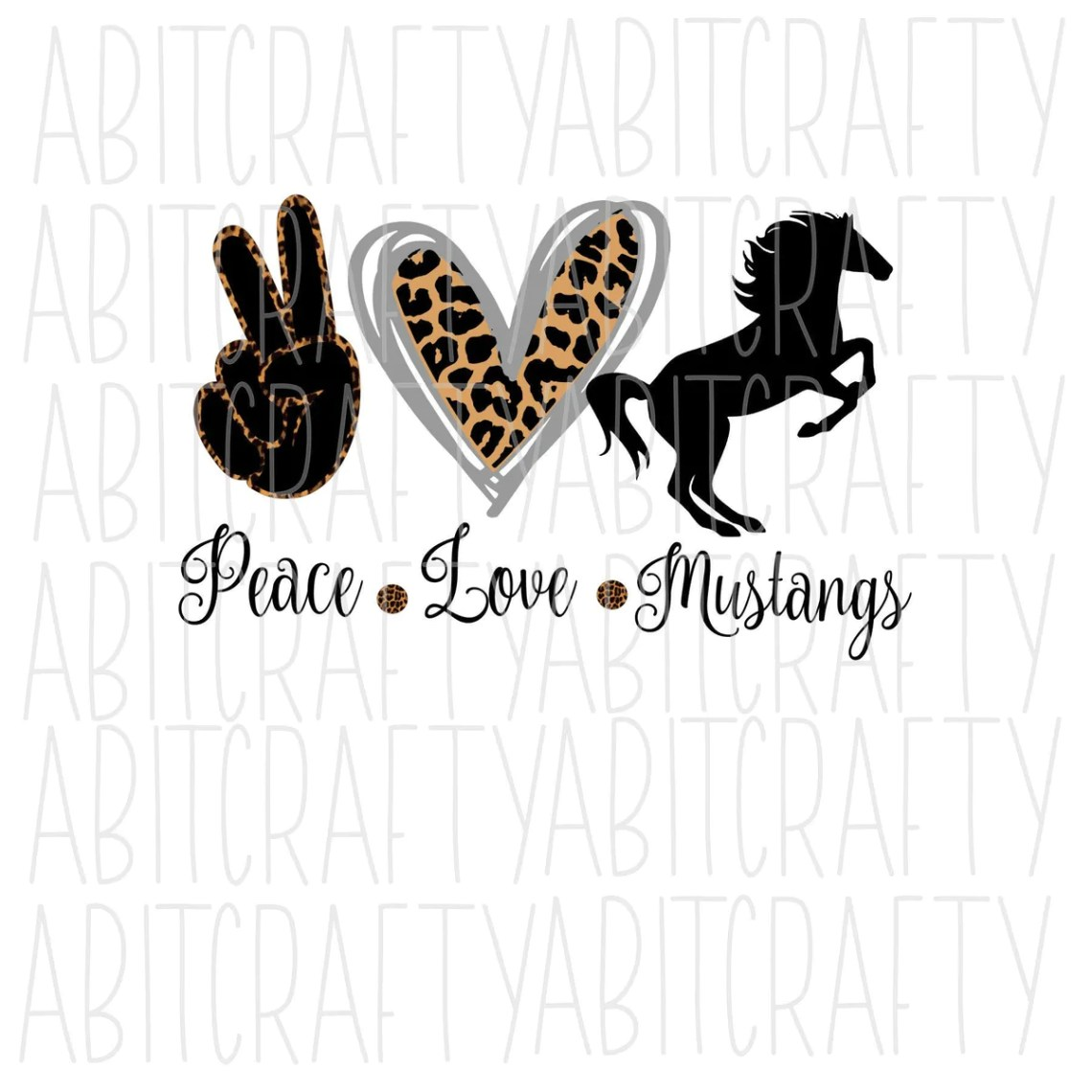Download Peace, Love, Mustangs png/svg/digital download/sublimation