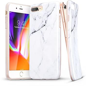 coque iphone 7 plus marbre blanc