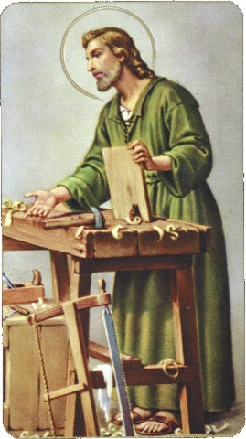 St Joseph The Worker Holy Card FREE Ship 49
