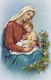 Image of MADONNA AND CHILD HOLY CARD