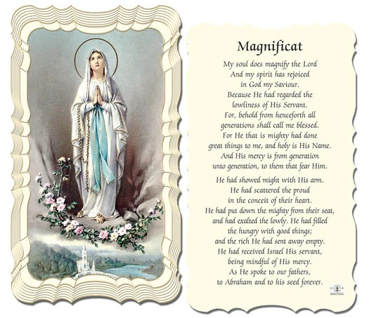 The Magnificat Holy Card