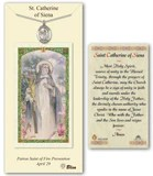 Image of St. Catherine of Siena Pewter Prayer Card