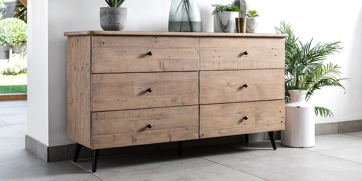 chelwood reclaimed wood large chest of drawers