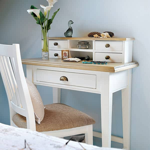 Savannah Small Reclaimed Wood Desk Or Dressing Table Modish Living
