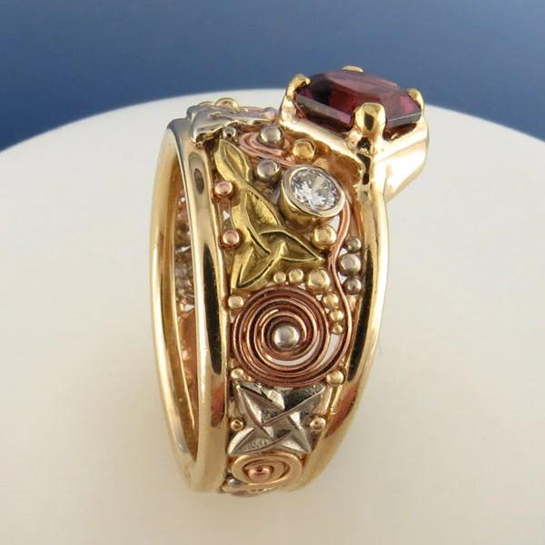 Rhodolite Garnet Ring RF257