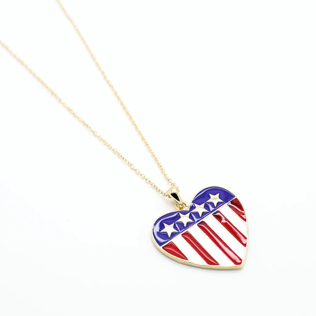 American Flag Sterling Silver Pin