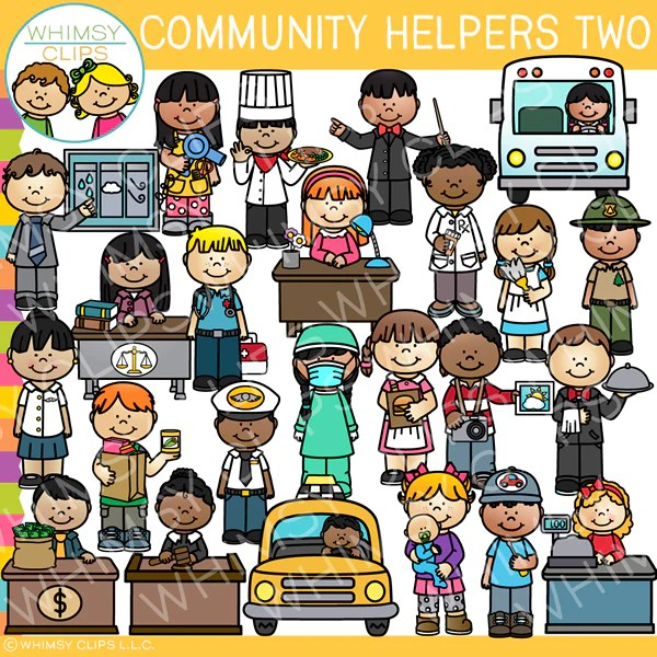 Awesome Community Helpers Clip Art Set Two Images Illustrations Whimsy Clips