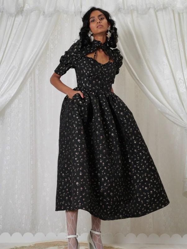 Agnes Jacquard Midi Dress, £165, DREAM Sister Jane