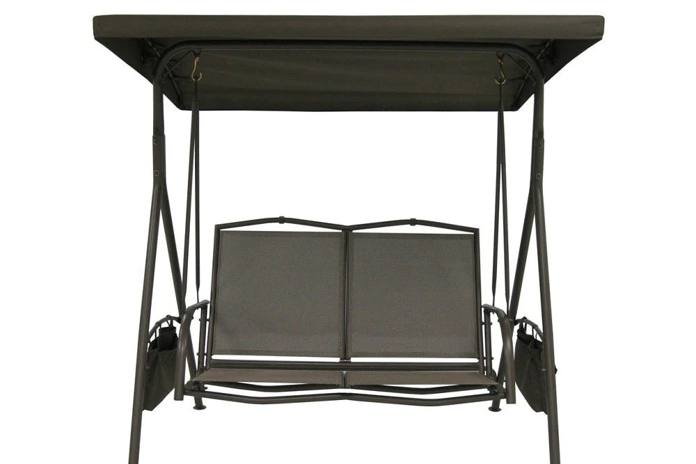 garden treasures 2 seat swing canopy with canopy fabric frame